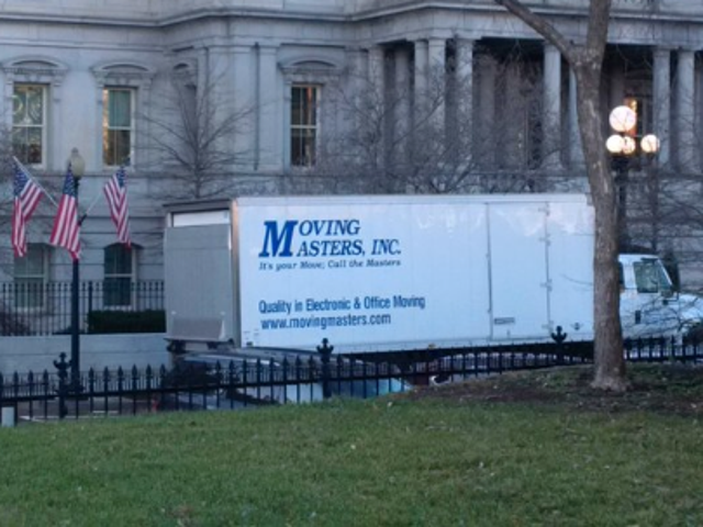 The Final Days of Obama's Presidency: Moving Van Spotted Inside White House