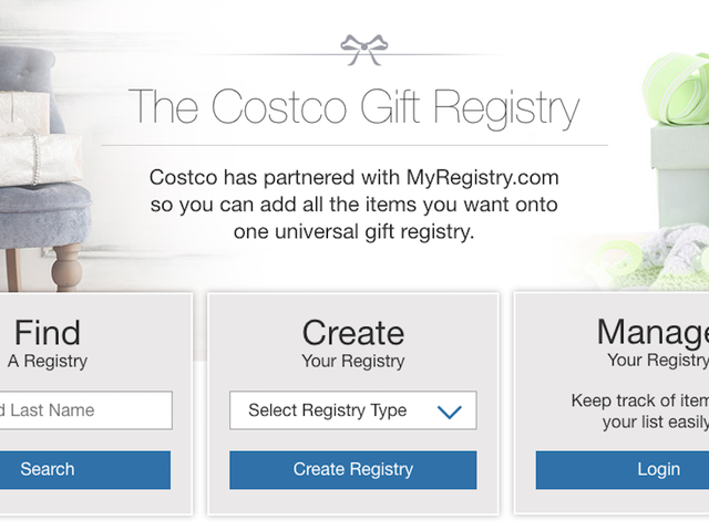 Вы знали, что у Costco есть подарочный реестр и что я буду требовать подарки?