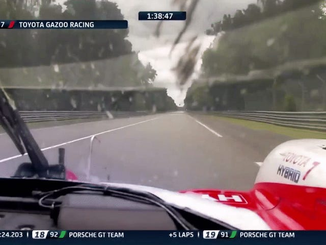 Second Place Toyota Slows Suddenly In Last Two Hours Of Le Mans But It Just Missed A Fuel Stop