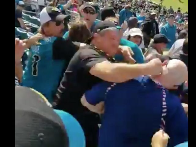 Jaguars Fan Knocks Texans Fan Out Cold With Devastating Sucker Punch