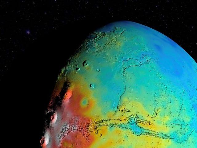 Det ser ut som om vi var gale om en grunnleggende eiendom av Mars