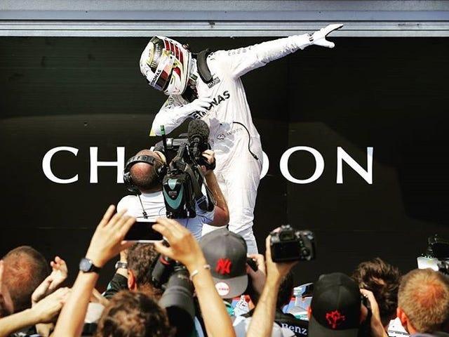 Lewis Hamilton just dabbed