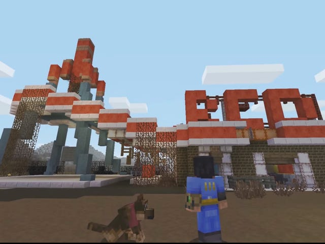 <i>Minecraft</i> <i>Fallout</i> 화장을 가져옵니다