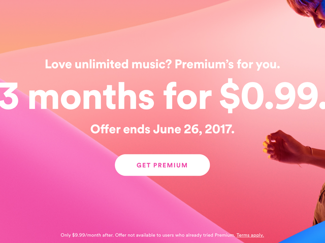 Get Three Months of Spotify Premium for $1