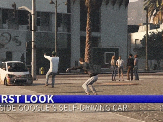 Google's Self-Driving Car Goes Wild In GTA V