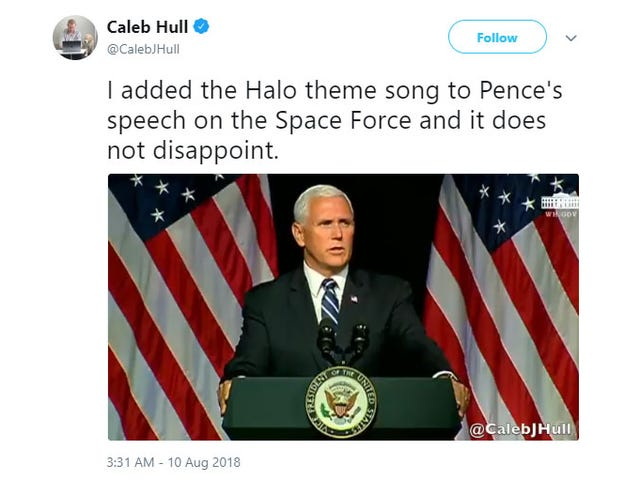 Space Force vs The Halo Theme Song