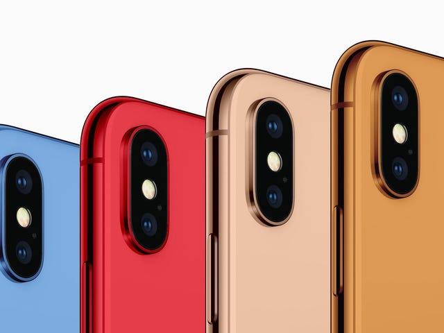 Apple menggerakkan iPhone dan banyak warna