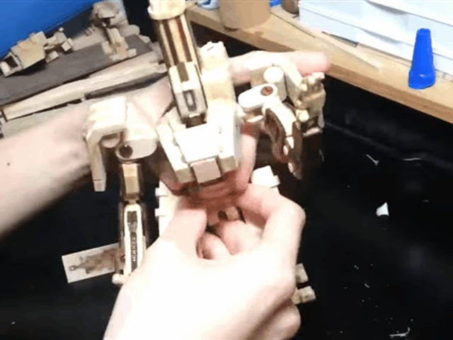 Hand-Made Bastion Figure Actually Transforms