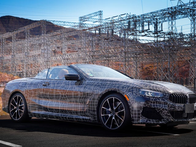 Here's the New BMW 8 Series Convertible Feeling the Heat in the Desert