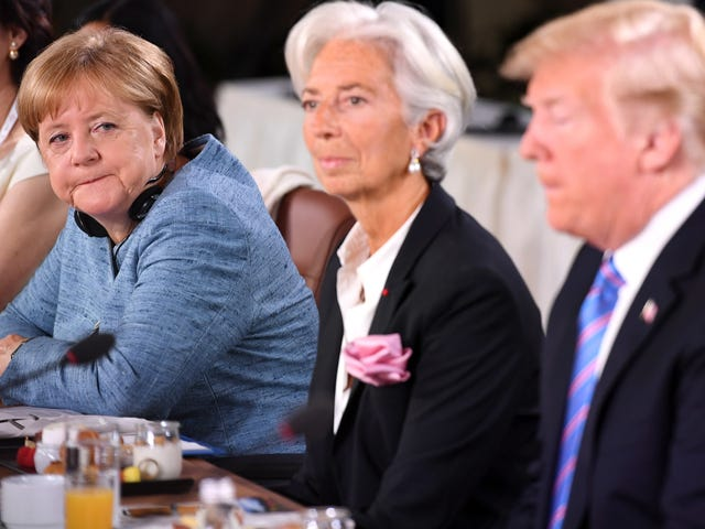 Angela Merkel Would Very Much Like Donald Trump to Put His Dick Back in His Pants