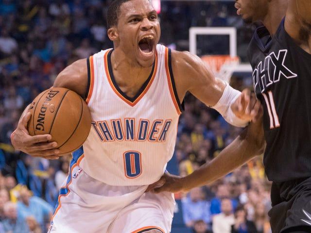 Russell Westbrook, NBA 최초 50 포인트 트리플 더블 40 년 만에 폭발
