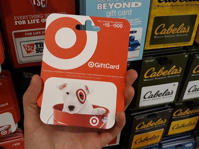Ottieni una carta regalo target con uno sconto del 10% oggi e crea la tua 'vendita' in seguito