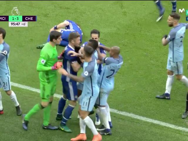 Un brutto attacco di Sergio Agüero ha permesso a tutti di combattere a Manchester City-Chelsea