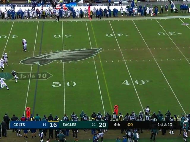 The Colts stoler ikke på Andrew Luck å kaste en hilse Mary