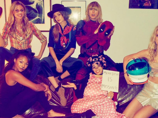 Taylor Swift Says She Borrowed Ryan Reynolds' Deadpool Costume for Halloween