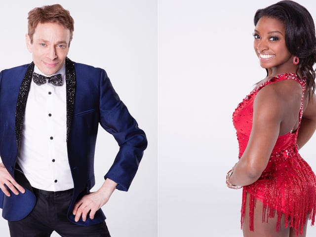 Simone Biles Stands No Chance Against Chris Kattan in the Next Season of Dancing With the Stars