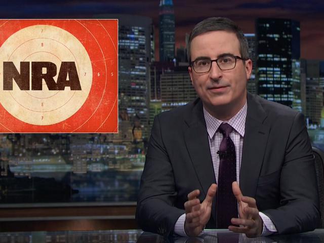 Gun porn, pink pistols, and slut-shaming marijuana: John Oliver watches NRATV