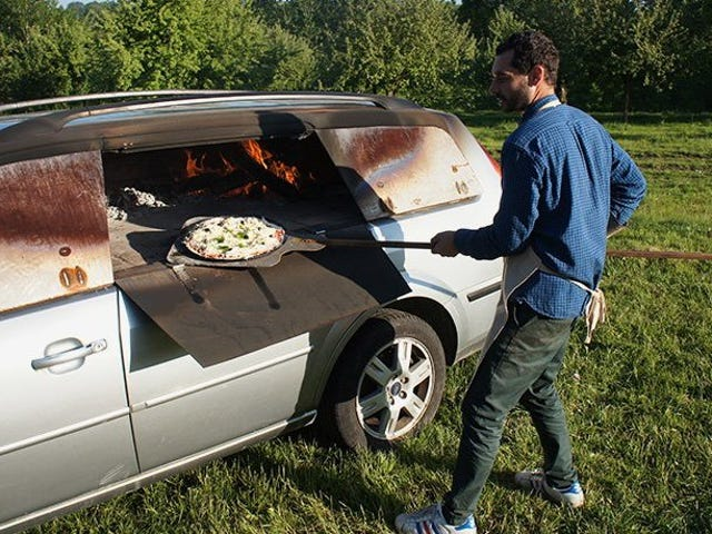 French Artist Benedetto Bufalino Is Turning Old Cars Into Pizza Ovens