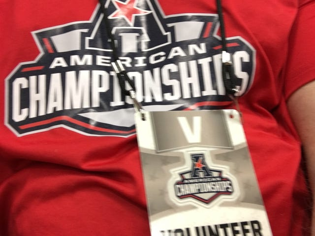 I'm timing the AAC swim championships AMA...