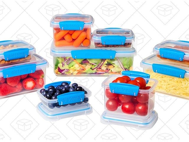 Secure Your Food In This $17 Food Storage Set With Locking Lids