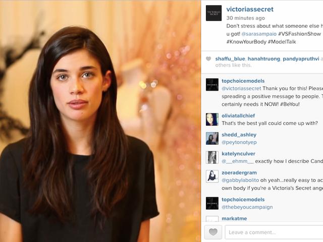 Helpful Victoria's Secret Reminder: Even Models Hate Themselves