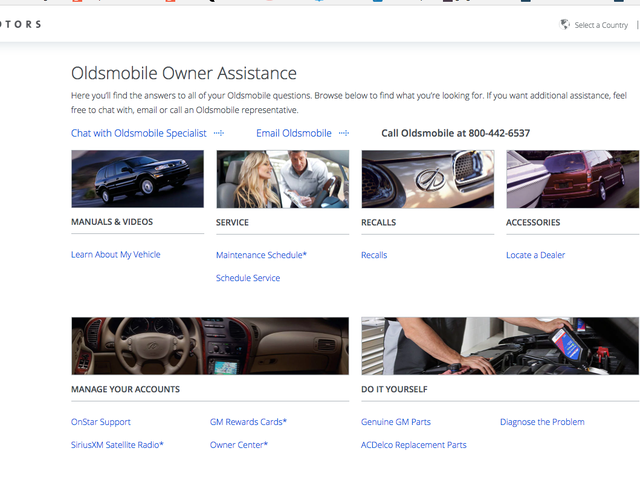 Oldsmobile And Pontiac Are Dead But Their Websites Live On