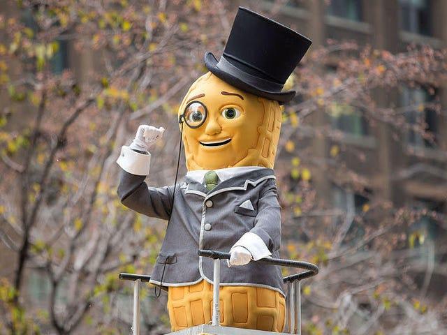 Mr. Peanut meets his maker in fiery crash, i.e. opportunistic Super Bowl ad