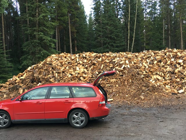 So It Turned Out This Is How You Get Firewood in Canadian National Parks