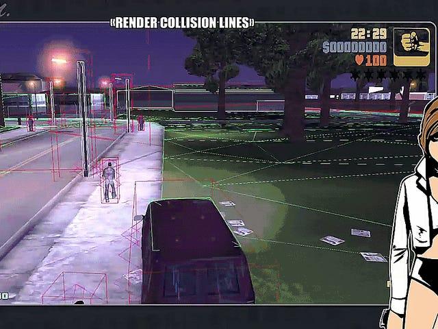Des outils de développement découverts permettent aux joueurs de voir les coulisses de <i>GTA III</i>