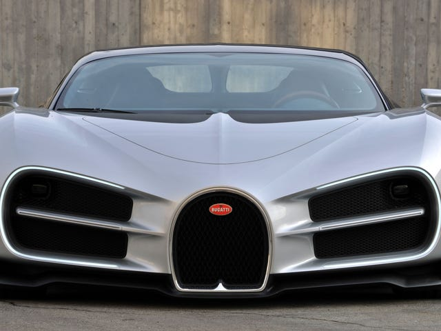 The First Design Of The Bugatti Chiron Was Just A Giant Bow Tie