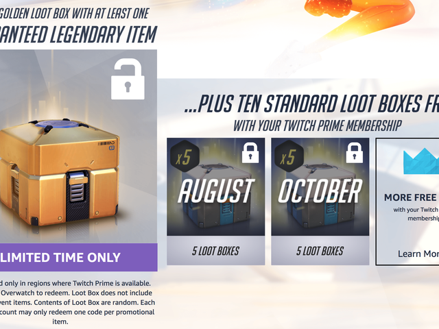 Amazon's Giving Prime Members FreeOverwatch Loot Boxes, Including a Legendary item