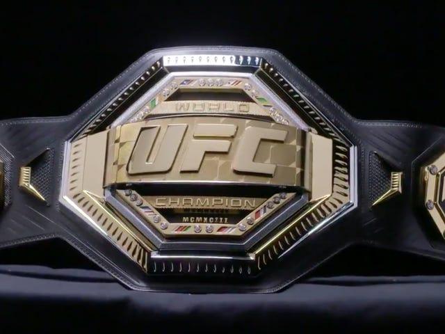 新的UFC冠军腰带看起来像一个玩具
