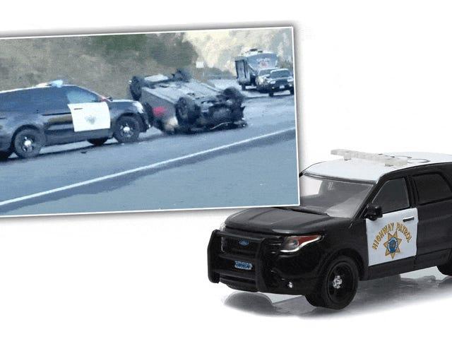 Παρακολουθήστε ένα SUV CHP στην πραγματικότητα να κάνει κάτι δροσερό με αυτό το Push Bar