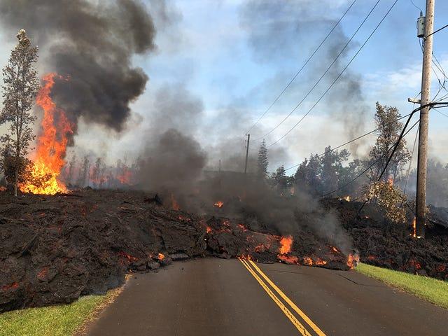 ロサンゼルスの溶岩の火山キラウエア・アン・ハワイの歴史的建造物の詳細