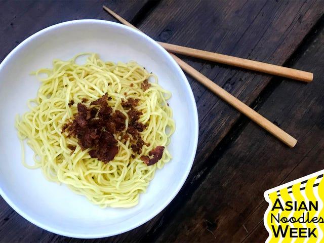 Make crispy pork and shallot-oil noodles, your new weeknight back-pocket dish