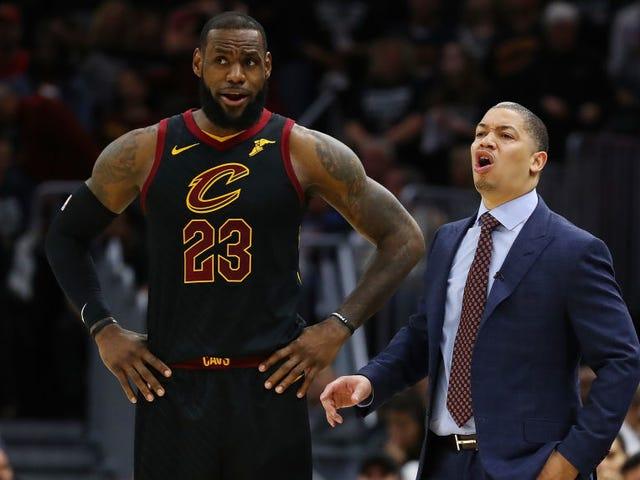 """LeBronWatch: Tyronn Lue's Posture Crumbles Upon Hearing The Words """"LeBron James"""""""