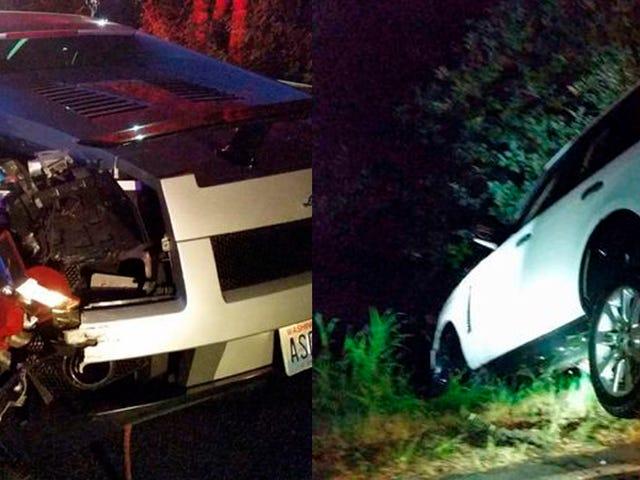 Bagaimana Neraka Ini Menghancurkan Lamborghini-Range Rover Pond Crash?