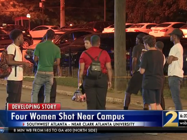 4 Mga Mag-aaral na Shot sa Block Party sa Atlanta University Center Library