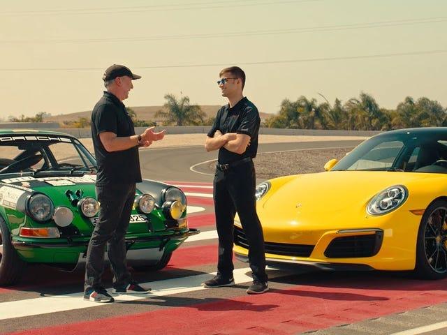 Two Race Car Drivers Talk Motorsports' Evolution While Driving A Classic Porsche Race Car