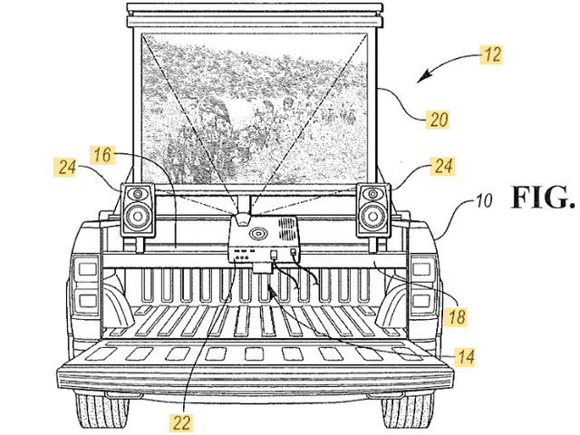 Ford Patents en måte å slå din pickup truck inn i en kino