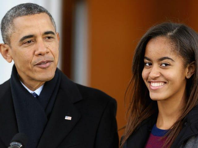 मालिया ओबामा, रैप टास्मेकर, न्यूयॉर्क शहर में कॉलेज में भाग ले सकती हैं