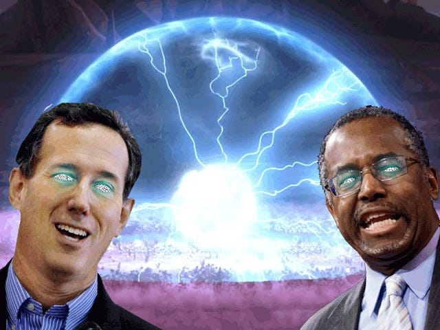 Santorum and Carson Couldn't Wait To Freak You Out About EMP Weapons Last Night