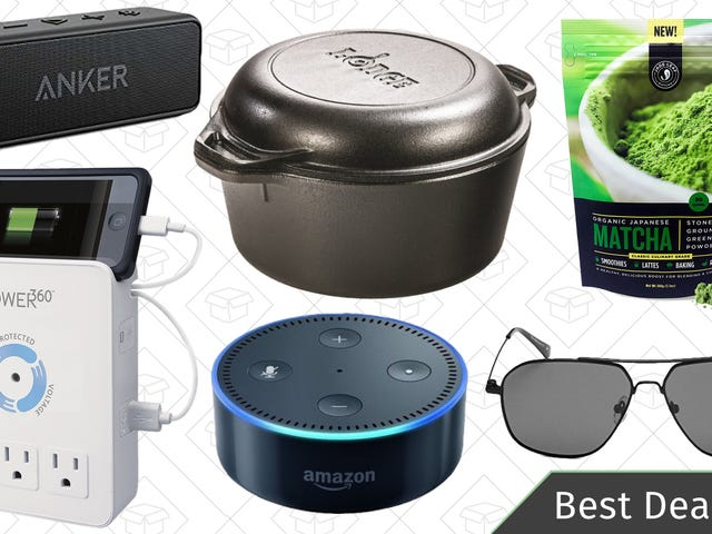 Sunday's Best Deals: Matcha, Anker Soundcore 2, Lodge Cast Iron, and More