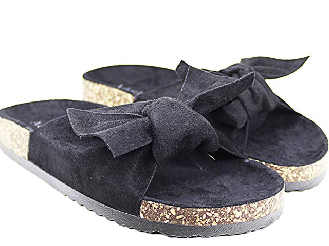 Adorllya Womens Slides Sandals Slip on Bowknot Cute Slippers Cofortable Flip Flop Wide Width $10.5