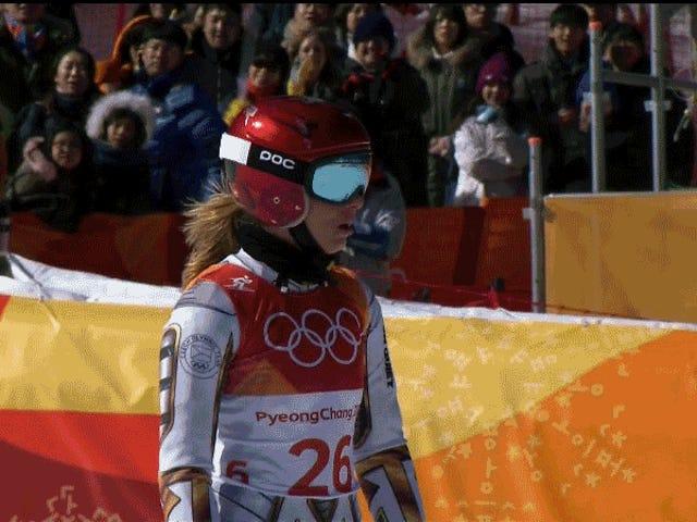Czech Snowboarder Borrows Mikaela Shiffrin's Skis, Somehow Wins Super-G Gold