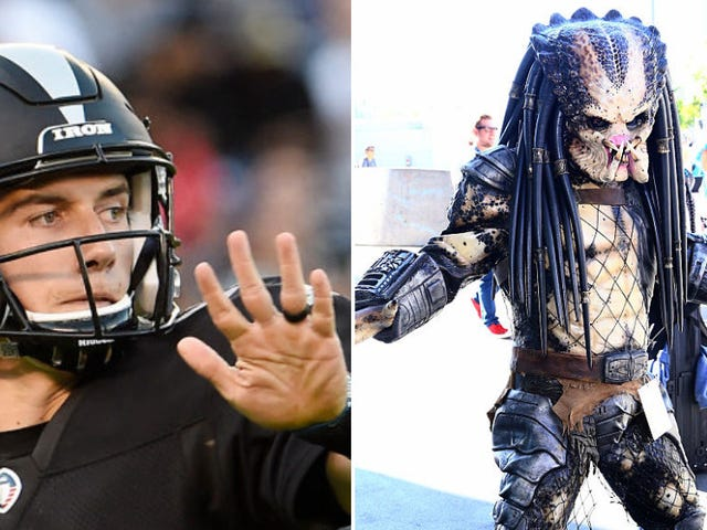 The Alien Vs. Predator saga was almost resolved over a game of football