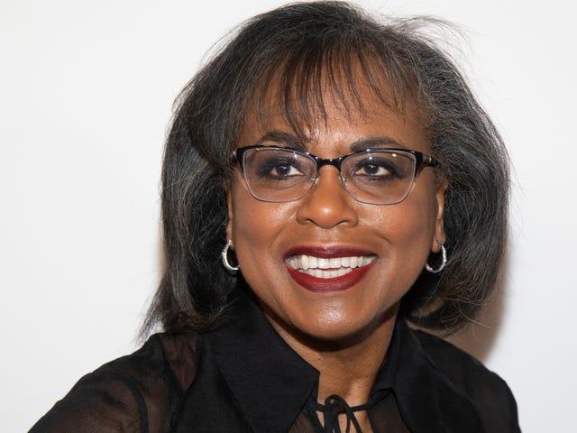 Anita Hill tilskynder medarbejdere til underholdningsindustrien til at foretage en undersøgelse af seksuel chikane på arbejdspladsen