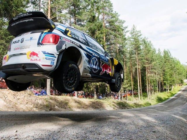 Los increibles saltos, derivas y accidentes de la reunión más rápida de Finlandia