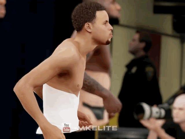 Steph Curry, o Ass'i Sanki NBA Dansçısı gibi Sallayarak