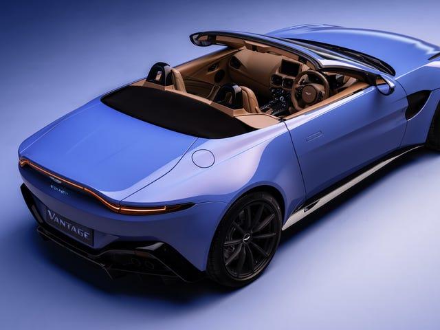 Den vackra 2021 Aston Martin Vantage Roadster kan fälla sin topp ner på under sju sekunder